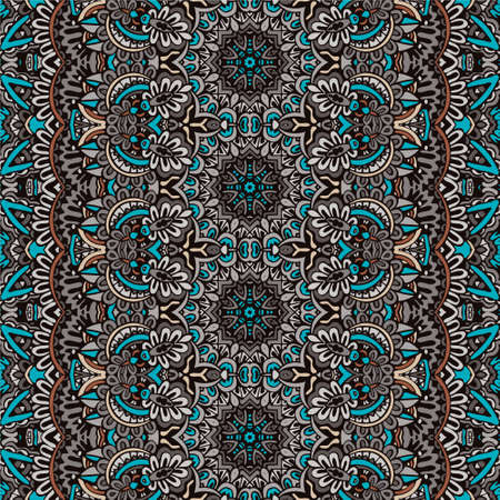 Tribal abstract geometric ethnic seamless pattern ornamental. victorian boho style textile design Banque d'images - 131955878
