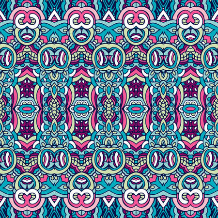 Tribal vintage abstract geometric ethnic seamless pattern ornamental. boho gypsy design Banque d'images - 131955911