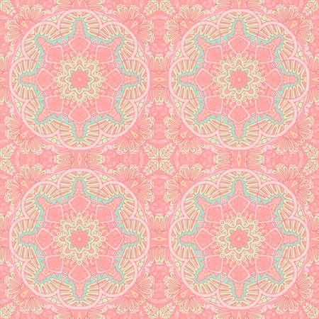 Vector seamless pattern mandala art texture for fabric.