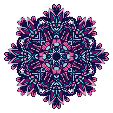 Geometric mexican mandala floral design colorful ornament stylish element
