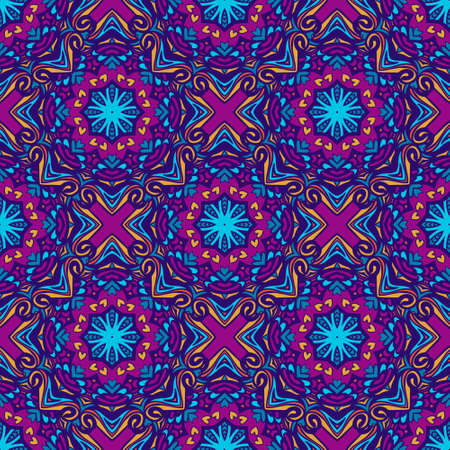 Tiled ethnic geometric boho pattern for fabric.
