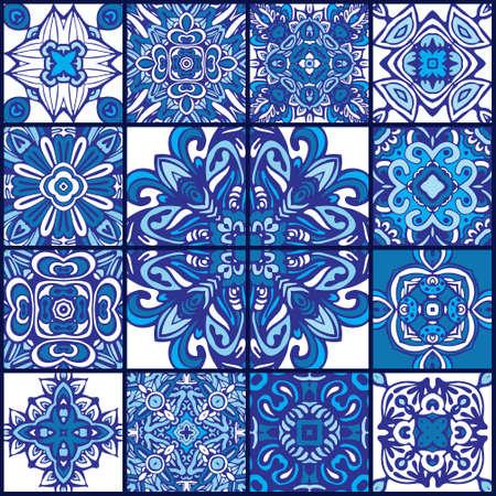 talavera azulejo seamless pattern ornamental.