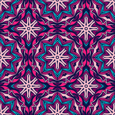 Vintage oriental pattern for tiles and fabric. Abstract geometric vector ornamental.