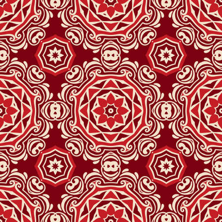 Abstract geometric vintage ethnic seamless pattern ornamental