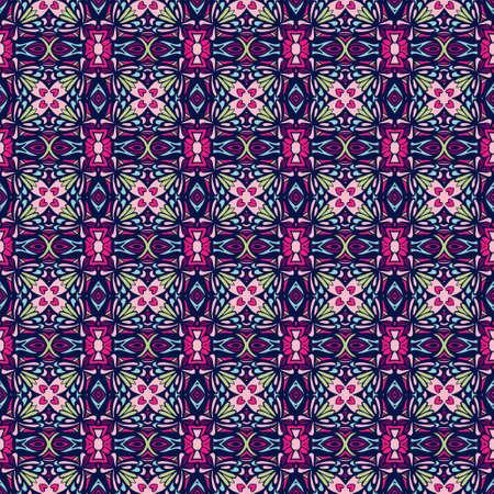 Abstract geometric vector colorful seamless pattern ornamental. Ilustração