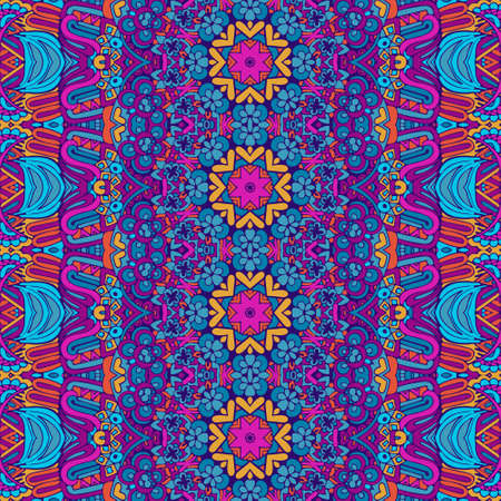 Tribal vintage abstract vector geometric ethnic seamless pattern ornamental. Indian colorful textile design Colorful Tribal Ethnic Festive Abstract Floral Vector Pattern