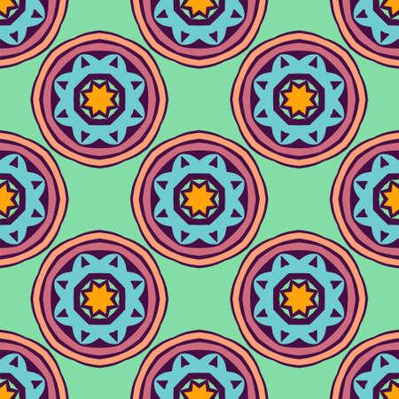 Geometric seamless pattern circles and stars