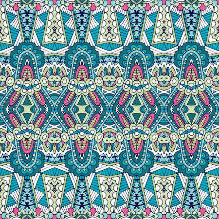 Abstract festive colorful floral vector ethnic tribal nomadic pattern