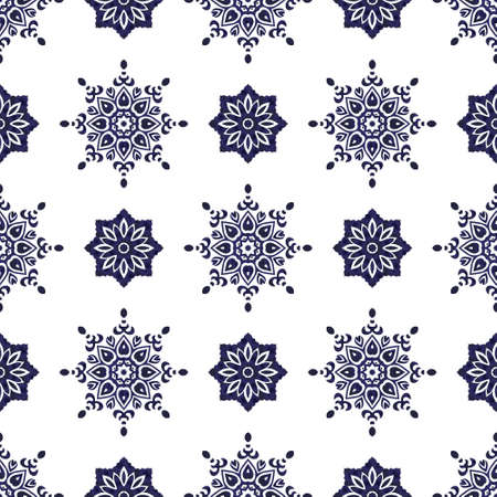 Seamless pattern of snowflakes on a white background Vectores