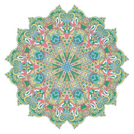 Light green mandalavector trendy colours vector background