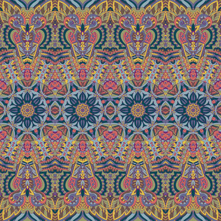 Tribal vintage abstract floral geometric ethnic seamless pattern ornamental