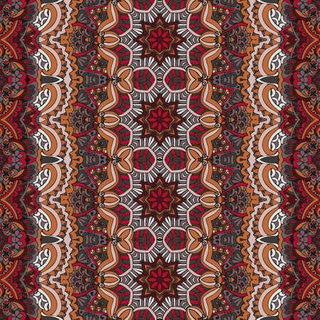 ethnic geometric seamless vintage medallion mandala ornamental pattern