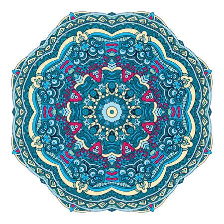 Mandala winter design colorful ornament stylish element Vectores