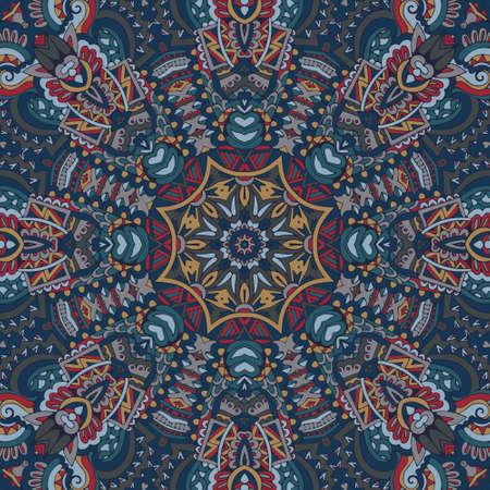 Tribal indian ethnic seamless design. Shawl mandala pattern