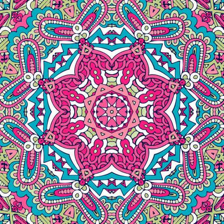 Festival art vector seamless pattern mandala. Ethnic geometric print. 向量圖像