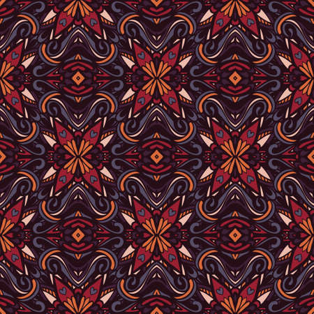 Abstract colorful festive ethnic geometric tribal pattern