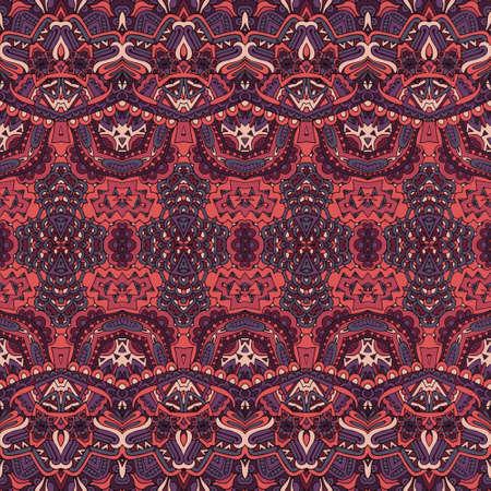Seamless pattern vector Ethnic geometric print vintage Vectores