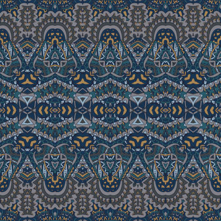 Tribal vintage abstract geometric ethnic seamless pattern ornamental. Indian striped textile design