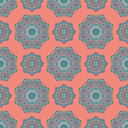 Flourish tiled ornamental luxury pattern. Abstract geometric seamless oriental background.