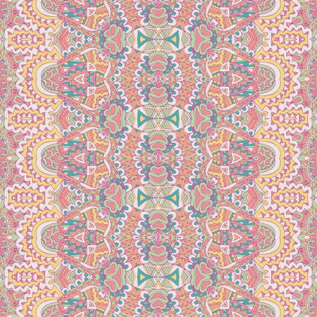 Pastel seamless pattern with ethnic geometrc ornament. Boho design.