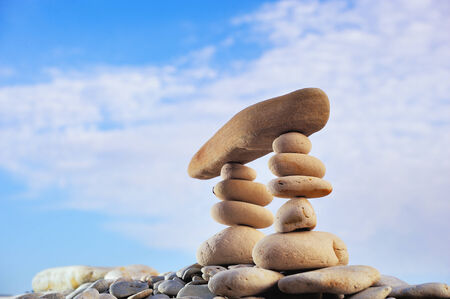 resemble: stacked of stones resemble Zen Equilibrium
