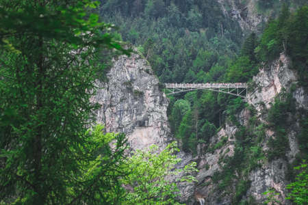 Marienbrucke or Bridge of Queen Mary spanning the spectacular Pollat Gorge Sajtókép