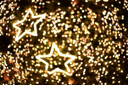 Star lighting blurred bokeh abstract background