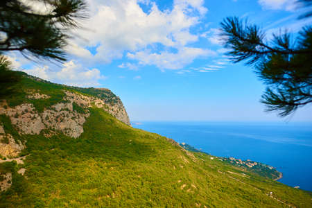 View of the sea from the cliff