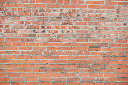 Old red brick wall texture background space for writing
