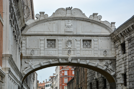 The famous bridge if sighs over a canal in Venice, Italy Stock Photo - 80488818