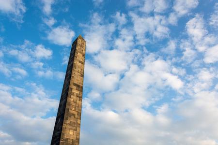 Obelisk on the Old Calton Burial Ground in Edinburgh, Scotland Editorial