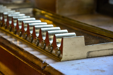 Cigar holder in the Budapest parliament as a close up Stock Photo