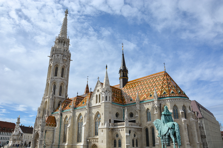 The Matthias church at the Fishermans bastion in Budapest, Hungary