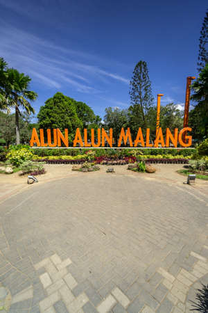 Landmark of Malang City in East Java Indonesia