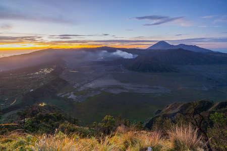 Bromo Mountain on Sunrise Indonesia Stock Photo - 117686800