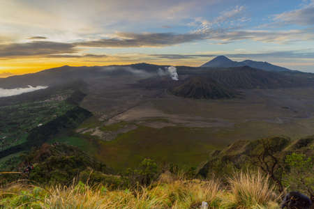 Bromo Mountain on Sunrise Indonesia Stock Photo - 117686804
