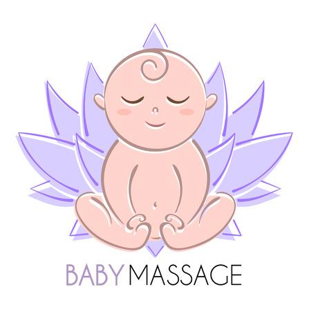 Logo baby and lotus