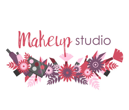 Signboard or logo for makeup studio