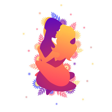 Kama sutra sexual pose The Lotus Blossom Illustration