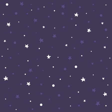 Violet pattern white polka dot pattern with stars