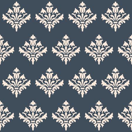 renaissance: Seamless wallpaper Renaissance on a gray background. Beautiful pattern. Vector Illustration.