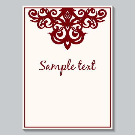 vintage postcard: Wedding invitation card. Postcard with a vintage pattern. Vintage invitation. Vector. Beautiful floral vintage invitation