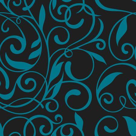 elegant white: Seamless pattern with floral design.Vector background. Vintage pattern. Floral seamless pattern. Illustration