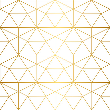 Golden texture.Seamless geometric pattern. Geometric pattern on a white background.