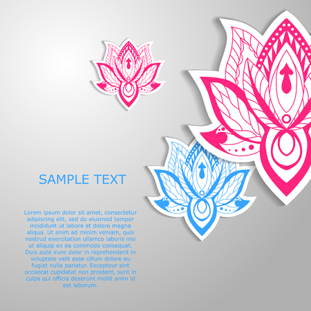 Modern template design with flowers.