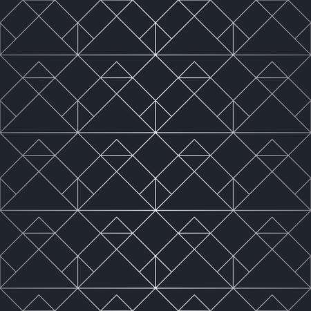 シームレスな抽象的な幾何学模様。銀色の背景。ベクトルシームレスパターン  イラスト・ベクター素材