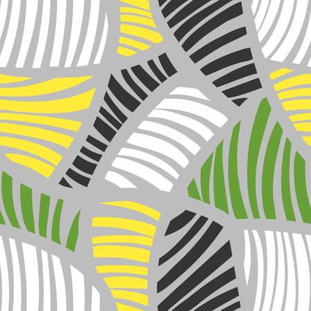 Abstract geometric striped colorful pattern. Seamless vector background.