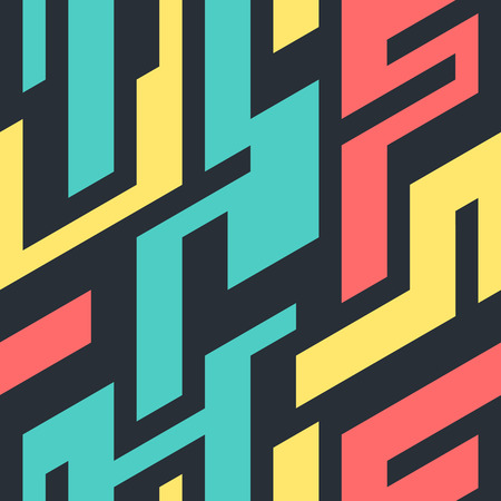 Abstract geometric colorful pattern. Seamless vector background illustration.