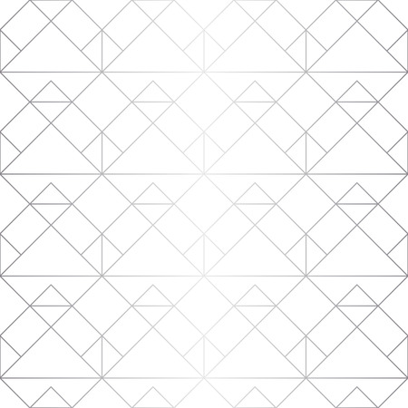 Seamless abstract geometric pattern. Silver background. Vector seamless pattern.