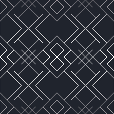 Silver texture. Seamless geometric pattern. Silver background. Vector seamless pattern. Geometric background with rhombus and nodes. Abstract geometric pattern. vector illuastration  イラスト・ベクター素材